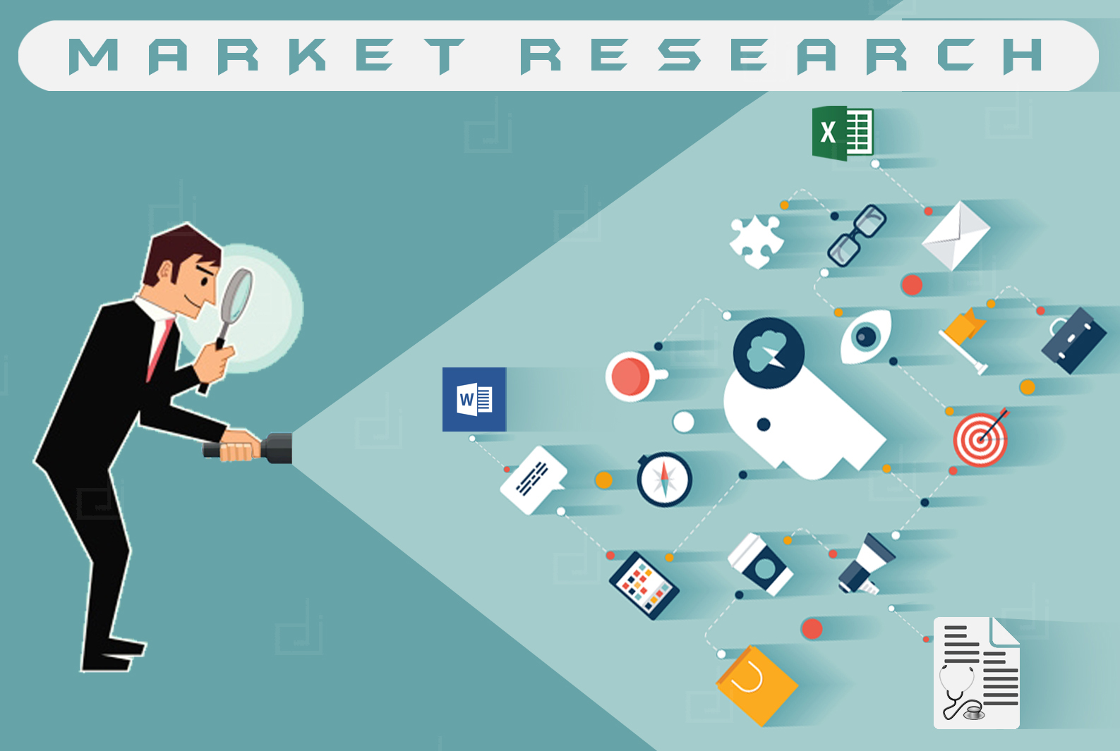 marketing and research Market research is the use of surveys, product testing and focus groups to assess the viability of a new product or service.